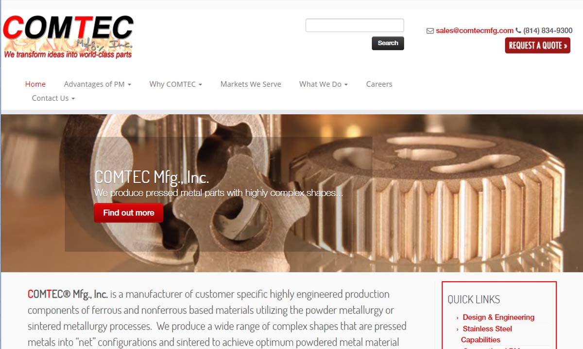 Comtec Mfg., Inc.