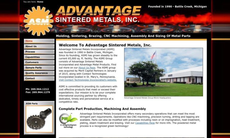 Advantage Sintered Metals, Inc.