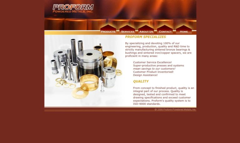 Proform Powdered Metals, Inc.