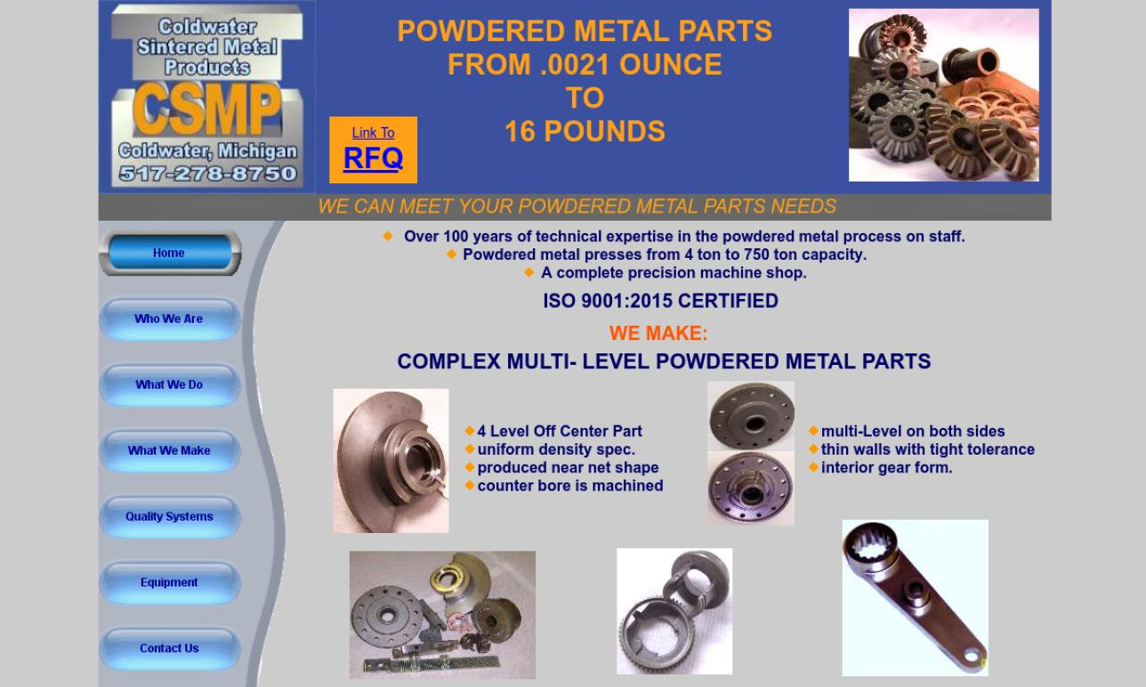 Coldwater Sintered Metal Products